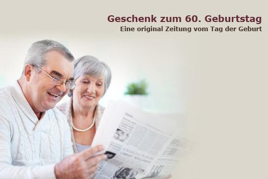 Geschenk zum 60 geburtstag historische zeitschriften und zeitungen - Geschenk zum 60 mutter ...